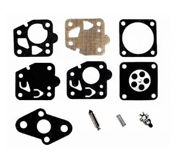TK, Teikei Carburettor / Carb Repair Kit with needle, lever, spring, gasket, diaphragm, parts